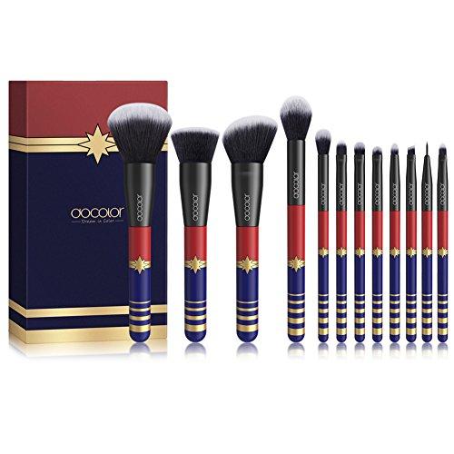 Docolor Makeup Brushes 12Pcs Premium Makeup Brush Set Synthetic Kabuki Makeup Brush Set Cosmetics Foundation Blending Blush Eyeliner Face Powder Lip Brush Makeup Brush Kit