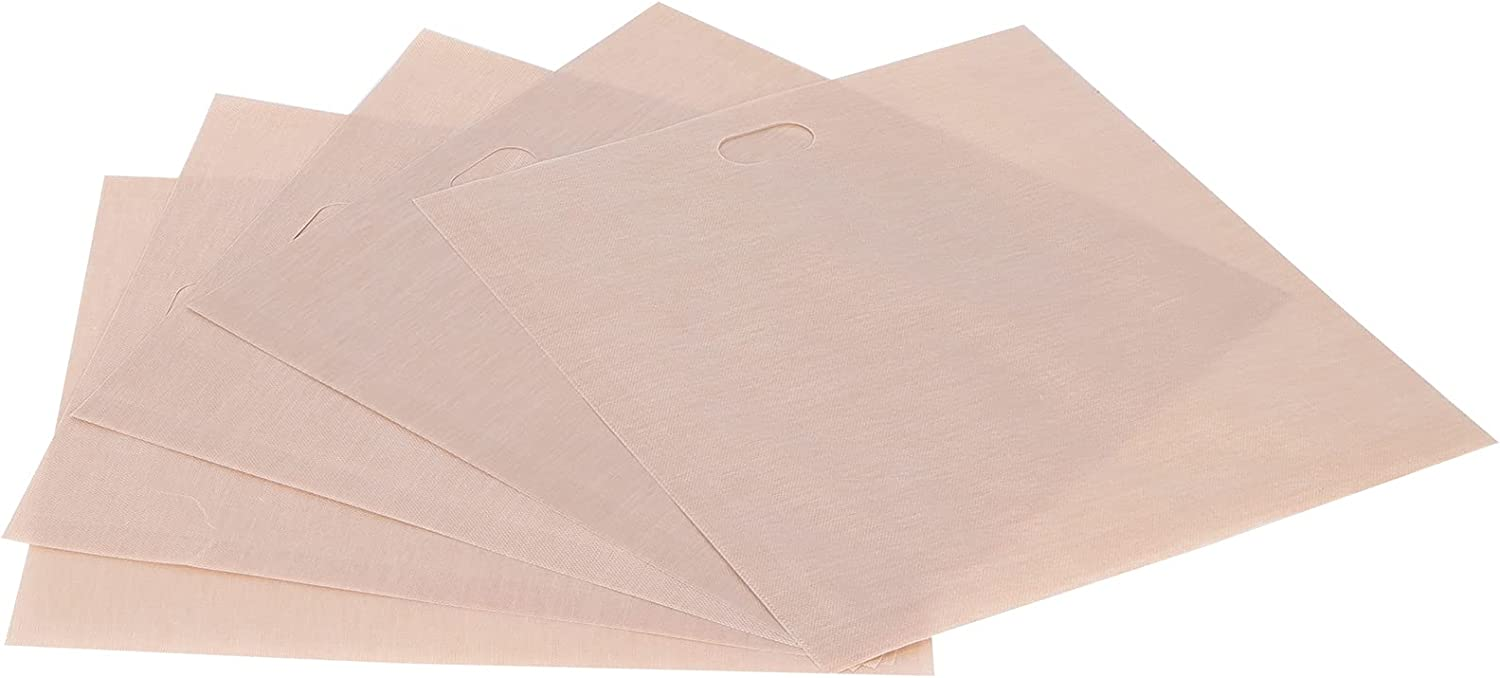Toast Bags, Toaster Bags 5PCS Non‑sticky Used Repeatedly for Oven Or Grill for Microwave for Toaster(1719CM 5 packs)