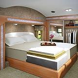 13 Inch Cal-King Size Accu-Gold 5.3 Visco Elastic Memory Foam Mattress Bed