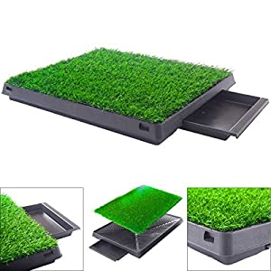 Dog Potty home Training Toilet Pad Grass Surface Pet Park Mat Outdoor Indoor 18