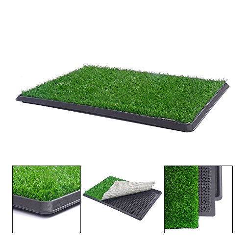 """30""""x20"""" Puppy Pet Potty Training Pee Indoor Toilet Dog Grass Pad Mat Turf Patch from Unknown"""