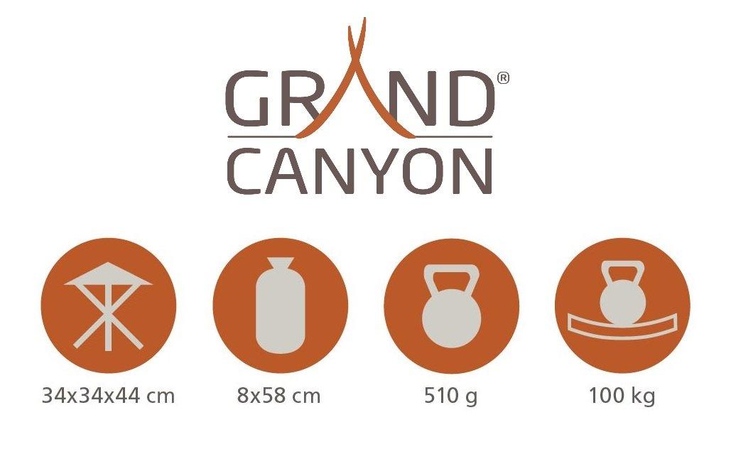 Grand Canyon Taburete de 3 Patas, Aluminio, Plegable