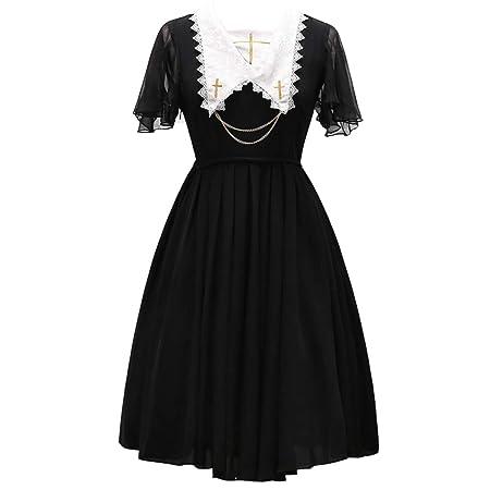 WDL-shop Vestido de Princesa Lolita con diseño gótico Negro ...
