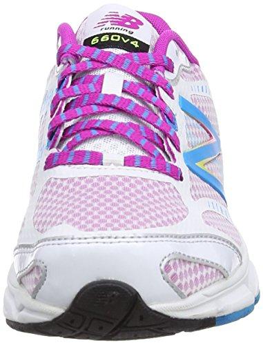 Femme Rose Chaussures New De Balance Course Blanc 660v4 Pour BPWzqT