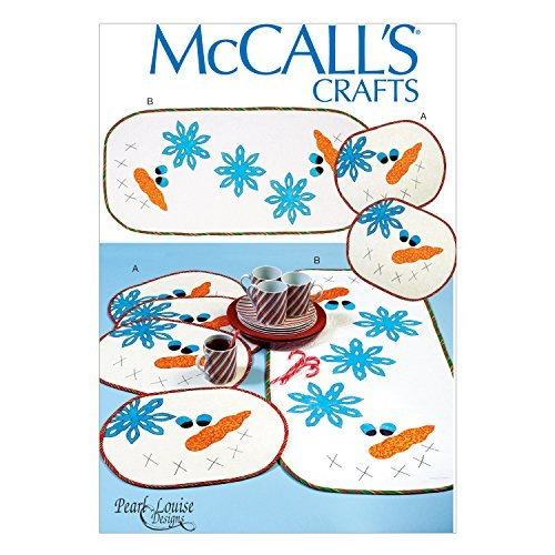Mccall's Crafts Sewing Pattern M7064 Snowman Tablerunner and Placemats by McCall's Crafts (Mccalls Placemat)