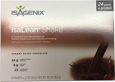 New Isagenix Isalean Shake Natural Creamy Dutch Chocolate - 14 X 1 Meal Packets X 2.2 oz, ?30.1 oz?
