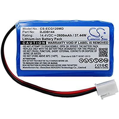 VINTRONS 2600mAh Battery For DONGJIANG ECG-1220