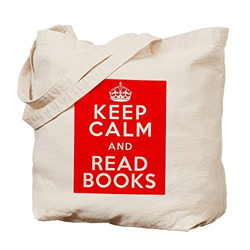 CafePress diseño de Keep Calm y leer libros–Gamuza de bolsa de lona bolsa, bolsa de la compra