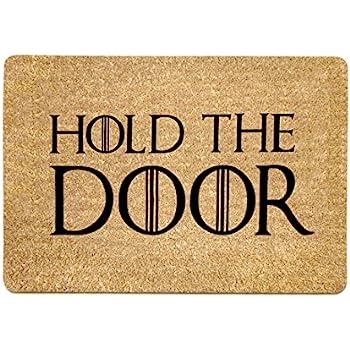 Superieur Pinji Funny Doormat Hold The Door Non Slip Rubber Entrance Mat Floor Mat Rug  Indoor/Outdoor/Front Door/Bathroom Mats Personalized 23.6(L) X 15.7(W)inch  06