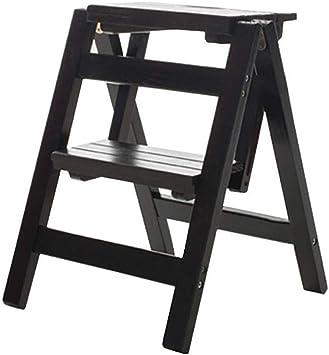X-L-H Escalera de madera multifuncional del hogar plegable Escalera de dos pasos Escalera de madera portátil pequeña 39.5 * 44 * 47cm: Amazon.es: Bricolaje y herramientas