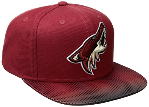 fan products of NHL Arizona Coyotes Adult Men NHL SP17 Two Tone Flat Brim Snapback Hat,Osfa,Red