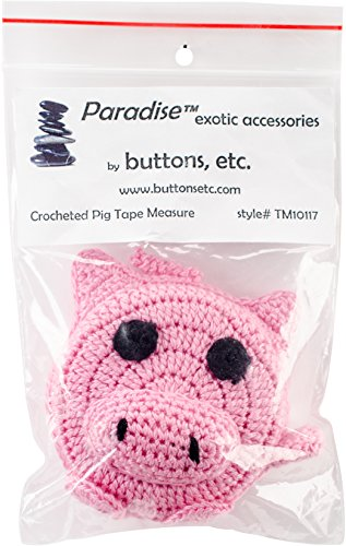 Paradise Exotic Shawl Pin Pig Paradise Crocheted Tape Measure 60