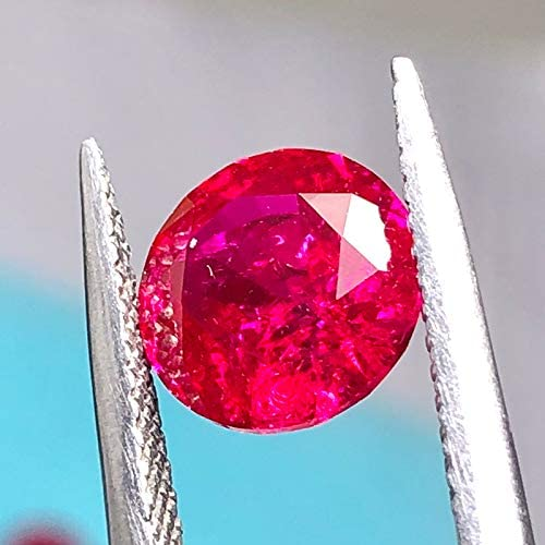 Lab Created Synthetic Corundum 5# Ruby with inclusions Round Shape Diamond Cut Loose Gemstones 1pcs 10mm