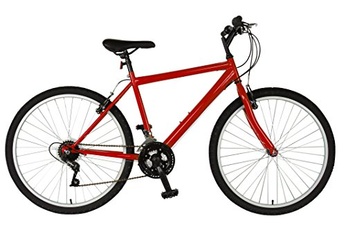Cycle Force Rigid Mountain Bike, 26 inch Wheels, 18 inch Frame, Men's Bike, Red