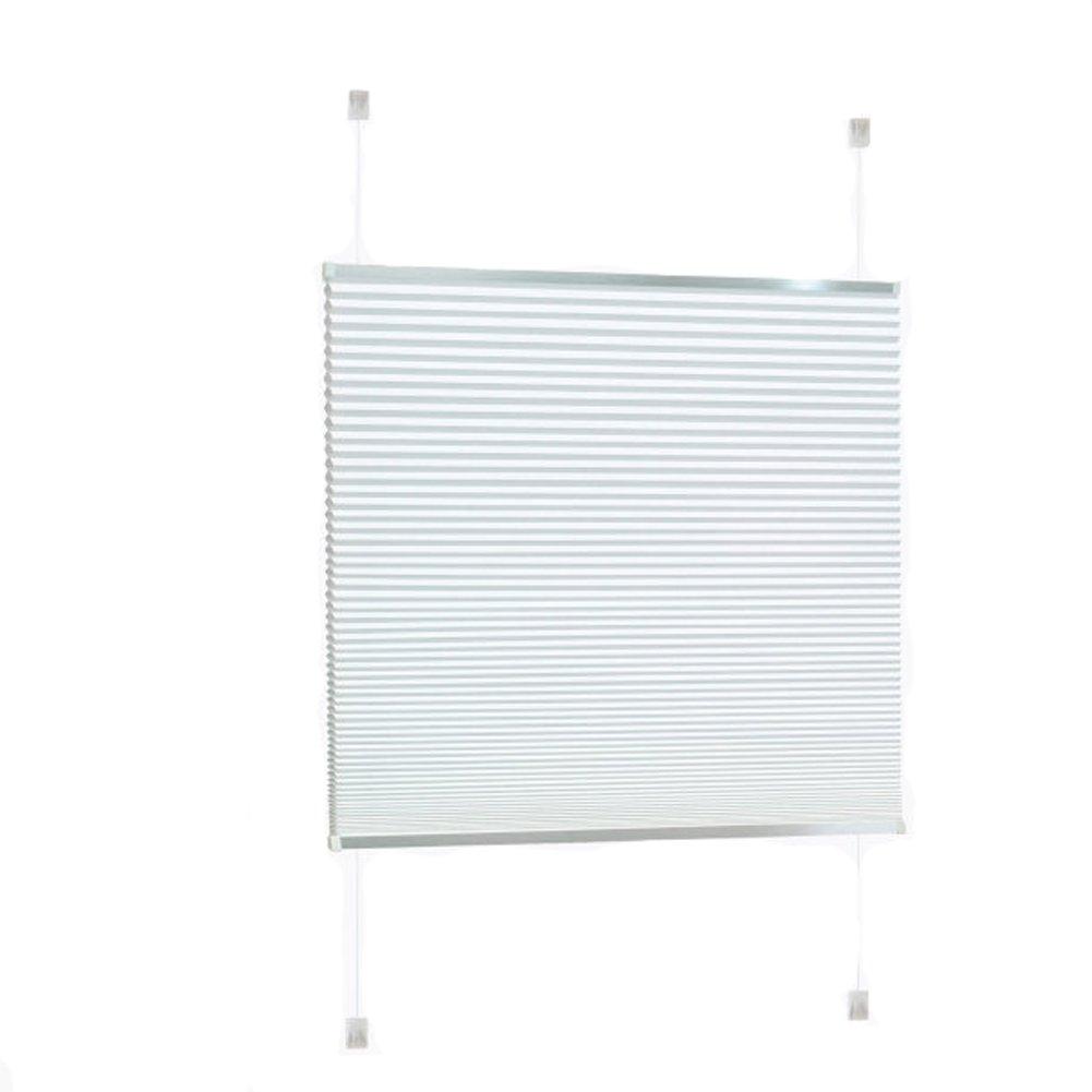 Doppel Plissee für Fenster Jalousie 90 x 130 cm Klemm- oder Klebemontage Weiß
