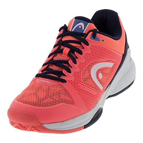 HEAD Women`s Revolt Pro 2.5 Tennis Shoes Coral and Black Iris-(274008COBI-S18) (Womens Tennis Shoe Pro)