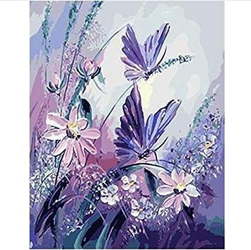 Dirart Sans Cadre Diy Minion Papillon Bricolage Peinture Numérique