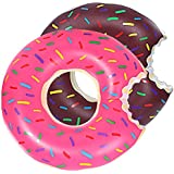 DMAR Pool Floats for Adults Kids Inflatable Float Pool Donut Swim Rings Floats 90cm Diameter Strawberry Single