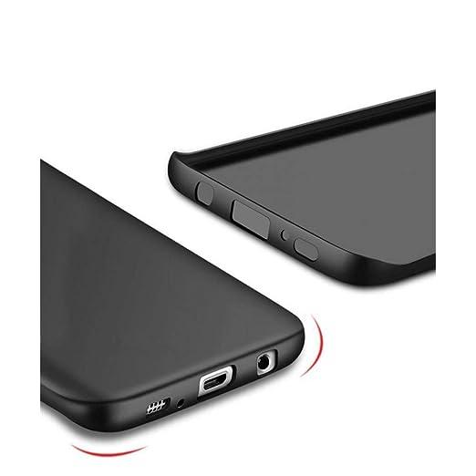 Amazon.com: Luxury Black Scrub Matte Soft Silicon TPU Case ...