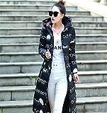 Feilongzaitianba Wadded Cotton Jacket Women Winter Coat Female Fashion Warm Parkas Hooded Women'S Jacket Casual Coat Plus Size Jx034 Black With Glasses M