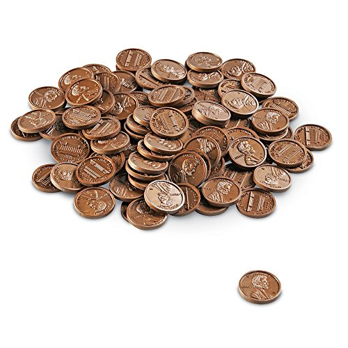 Learning Resources Play Money Plastic Pennies  100 Pieces