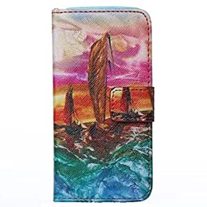 JOE Sailing Painting PU Leather Flip Case Cover with Stand for iPhone 5S