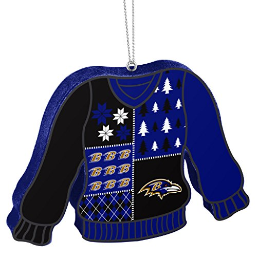 Ravens NFL Ugly Sweater Ornament