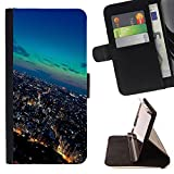 Graphic4You Tokyo Japan Postcard View Thin Wallet Card Holder Leather Case Cover for Honor 8