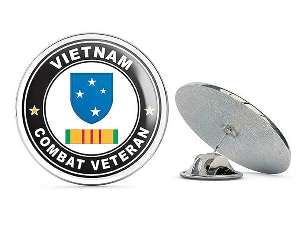 US Army 23rd Infantry (Americal) Division Vietnam Combat Veteran with Ribbon Metal 0.75' Lapel Hat Pin Tie Tack Pinback Veteran Pins