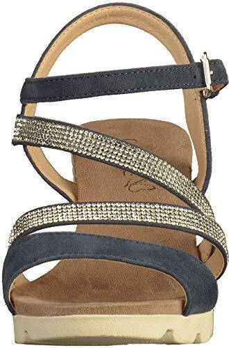 Femme Sandales plat Compensées chaussures Caprice confortable Compensées sandales D'été ocean sandales 28309 Blau 22 ZPqxtfE