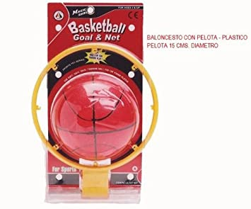 Cosas 724742 - Baloncesto Con Pelota - Plastico: Amazon.es ...