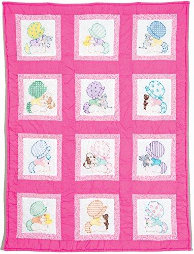 Jack Dempsey Needle Art Sunbonnet Babies Nursery Quilt - Squares Nursery