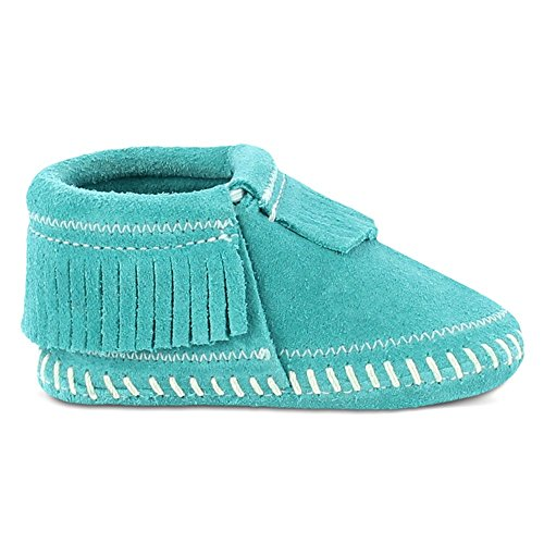 Minnetonka Riley Bootie, Mocasines para Bebés Turquesa (Turquoise)
