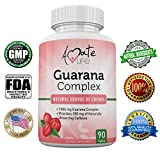 Amate Life Guarana Complex – Guarana Complex Energizer – Caffeine Energizing Supplement – Natural Source of Energy – Increasing Mind Functions Supplement – 1000mg of Guarana – 90 Tablets Review
