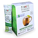ingredient mixer - Minute Mixology Cocktail Mixers - Low Calorie, All Natural Ingredients - Drink Mix for Liquor/Spirits and Non-Alcoholic Beverages (Moscow Mule, 16 Packets)