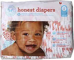 Honest Diapers, Multi Colored Giraffes, Size 4, 29 Count