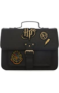 Primark Ladies Girl`s Womens Harry Potter Hogwarts Crest Black new Embroidered Satchel Bag