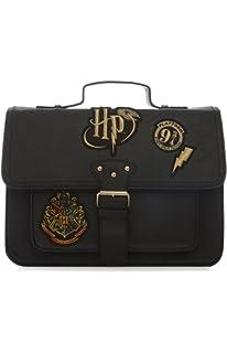 Primark Ladies Girl`s Womens Harry Potter Hogwarts Crest Black new Embroidered Satchel Bag