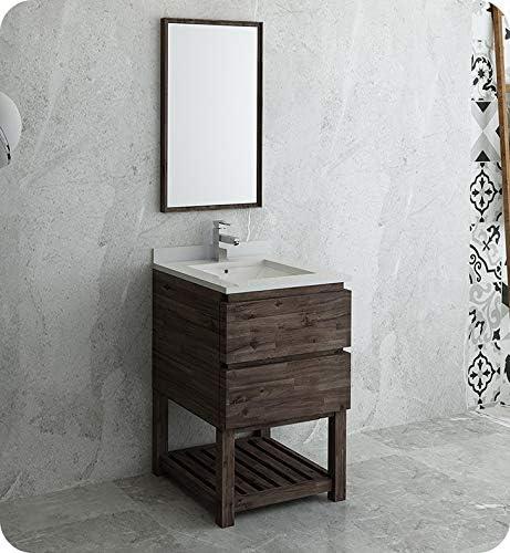 Amazon Com Fresca Formosa 24 Floor Standing Modern Bathroom Vanity W Open Bottom Mirror Kitchen Dining