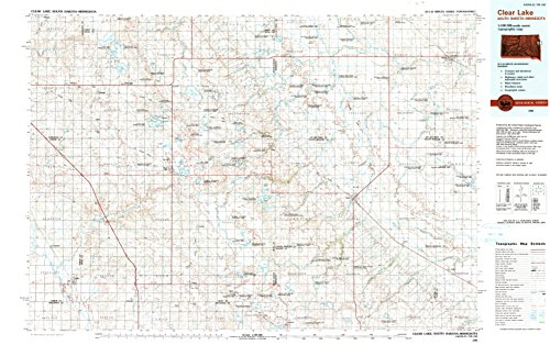 Clear Astoria Crystal (YellowMaps Clear Lake SD topo map, 1:100000 Scale, 30 X 60 Minute, Historical, 1985, Updated 1990, 24.1 x 38.4 in - Polypropylene)