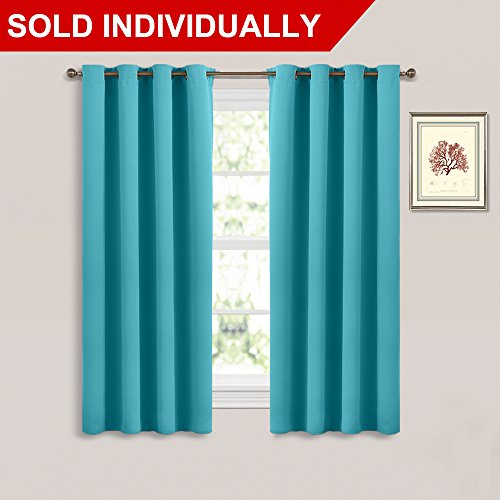 Thermal Insulated Blackout Turquoise Curtain   (Turquoise Blue Color)  Thermal Insultaed Window Treatment Drape, Room Darkening Morden Drapery For  Boyu0027s Room ...