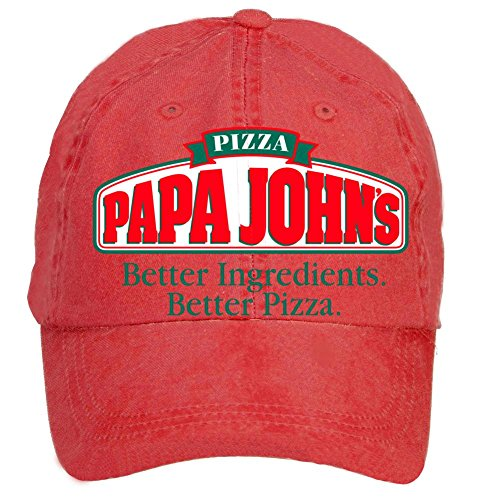 nusajj-papa-johns-ja-adult-unstructured-100-cotton-sports-hats-design-red-one-size