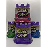 Bundle of 4 5-oz Single containers of Kinetic Sand: Pink, Purple, Green, Blue