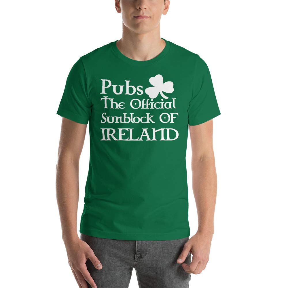 St Pubs The Official Sunblock of Ireland Patricks Day Short-Sleeve Unisex T-Shirt