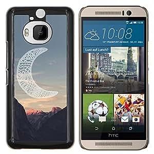 Caucho caso de Shell duro de la cubierta de accesorios de protección BY RAYDREAMMM - HTC One M9Plus M9+ M9 Plus - luna cañón indio americano nativo
