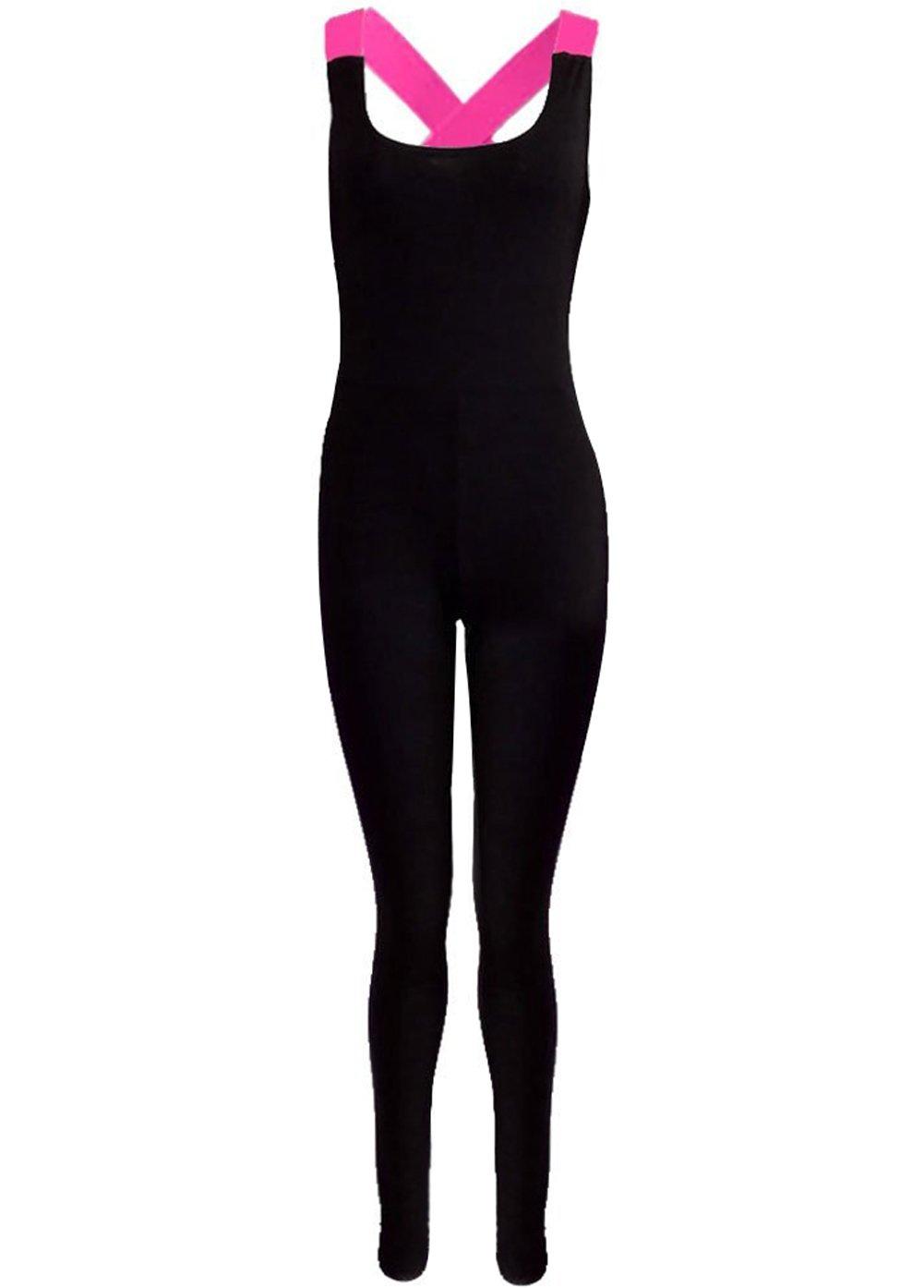 Minetom Femme Été sans Manches Pantalons de Sport Yoga Élastique Combinaison Salopette Collants Course Gym Fitness JD170710BY-DE27