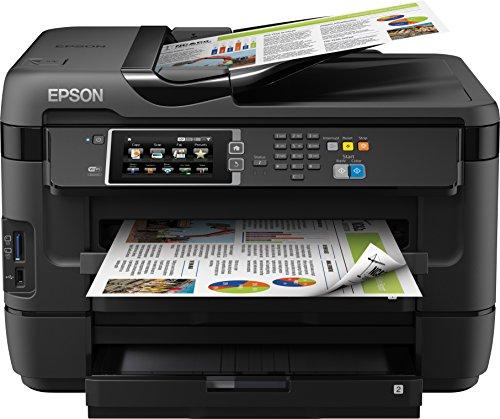 Epson WorkForce WF-7620DTWF 4-in-1 Multifunktionsdrucker (Drucken, scannen, kopieren, faxen, Duplex, WiFi, A3+, 2 Papierfächer, Dokumenteneinzug) schwarz