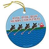 ChalkTalkSPORTS Crew Porcelain Ornament Rowing Reindeer Crew