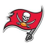 "NFL Tampa Bay Buccaneers Vinyl Logo Magnet, 12"", Cardinal"