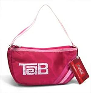 Tab Cola Logo Satin Handbag Hand Bag Purse